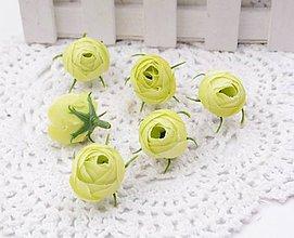 Polotovary - Púčiky ružičky 2 cm  (Žlté) - 9666570_