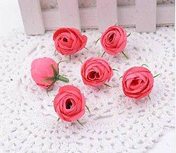 Polotovary - Púčiky ružičky 2 cm  (Tmavo ružové) - 9666572_