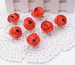 Polotovary - Púčiky ružičky 2 cm  (Červené) - 9666573_