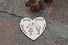 Darčeky pre svadobčanov - magnetka svadobná - 9668571_