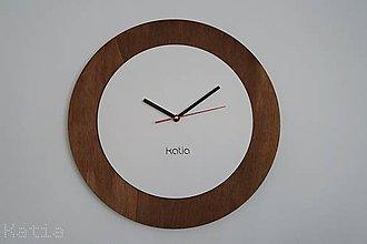 Hodiny - Drevené nástenné hodiny Circle 2 - 9667955_