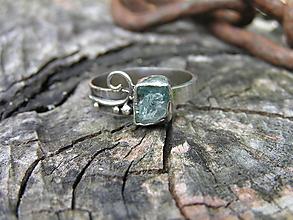 Prstene - Strieborny prsteň Ag925 Akvamarín - 9666427_