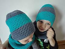 Detské čiapky - čiapky pre súrodencov:-) - 9666545_