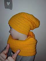 Detské čiapky - čiapka+nákrčník - 9666548_