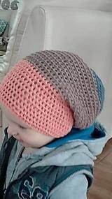 Detské čiapky - šmolko čiapka - 9668822_