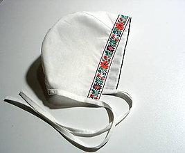 Detské čiapky - čepček s folk stuhou - 9669050_