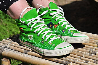 Obuv - zelené leto - 9666318_