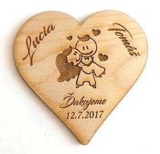 Darčeky pre svadobčanov - SVADOBNÉ DEKORÁCIE - Ďakovná magnetka na svadbu 2 - 9668138_