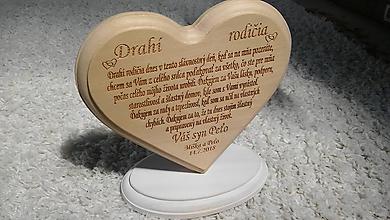 Dekorácie - Lipové srdce pre rodičov - 9670997_