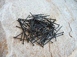 Komponenty - Ketlovacie nity čierne 18 mm 100 ks - 9670606_