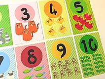 Detské doplnky - Náučné kartičky - čísla - 9671278_