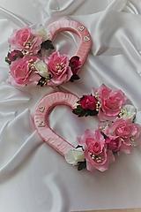 Svadobné srdcia na auto ružové