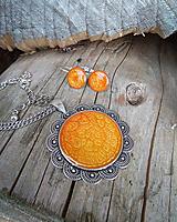 Sady šperkov - Oranžová sada šperkov - 9669622_