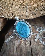 Náhrdelníky - Vintage náhrdelník - modrá - 9670955_