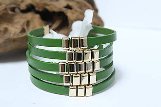 Náramky - Náramok zelený - 9669305_