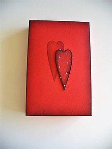 "Krabičky - krabička ""dve srdcia"" - 9671279_"
