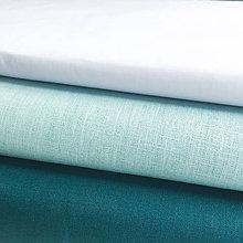 Textil - 100 % ľan tmavý petrolej, šírka 150 cm, cena za 0,5 m - 9671212_