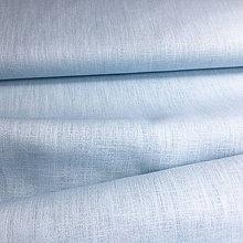 Textil - 100 % ľan svetlomodrý, šírka 150 cm, cena za 0,5 m - 9671260_