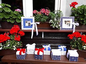 Krabičky - Kolekcia - Modrotlač - 9669411_
