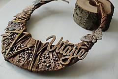 """Dekorácie - Venček na dvere """"VITAJTE"""" - 9672451_"""
