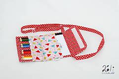 Detské tašky - Detská kabelka - pastelkovníčka Veselé dáždniky - 9671571_