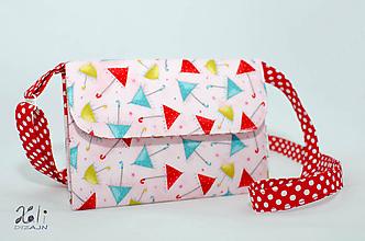 Detské tašky - Detská kabelka - pastelkovníčka Veselé dáždniky (vrátane vnútorného vybavenia) - 9671574_