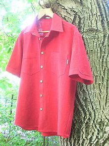 Oblečenie - Ľanová pánska košeľa - 9669991_