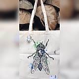Iné tašky - ♥ Plátená, ručne maľovaná taška ♥ - 9670302_