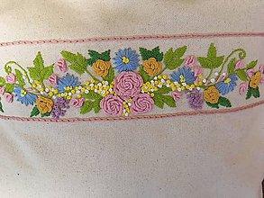 Úžitkový textil - Vyšívaný vankúšik - 9671397_