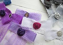Odznaky/Brošne - Mašľa Florencia - brošňa fialová, štras - 9671956_