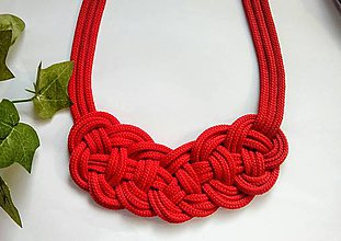 Náhrdelníky - Uzlový náhrdelník - Vášeň - 9671702_
