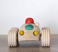 Hračky - Drevene autíčko Jožko - 9670733_