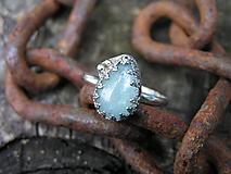 Strieborny prsteň Ag925 Akvamarín