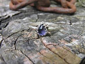 Prstene - Strieborny prsteň Ag925 Iolit - 9670675_