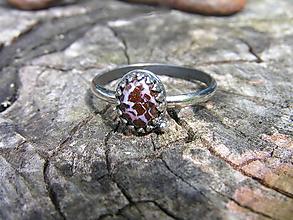 Prstene - Strieborny prsteň Ag 925 Boulder opál - 9670860_