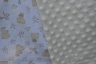 Textil - Biela minky deka s macíkmi - 9669978_