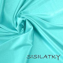 Textil - Satén - elastický - mentolový - kvalitný - mint - 9670602_