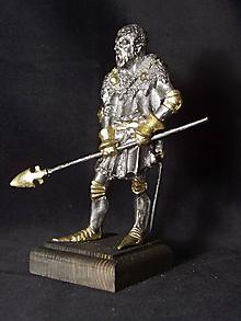 Socha - Kolekcia rytierov v zbroji (rytier v zbroji s kopí) - 9669634_