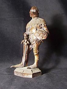Socha - Kolekcia rytierov v zbroji (rytier v zbroji so štítom s českým levom) - 9669654_