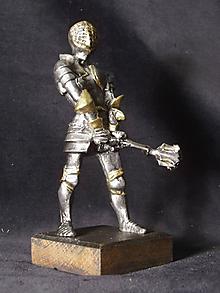 Socha - Kolekcia rytierov v zbroji (rytier v zbroji s palcátom) - 9669663_