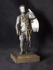Socha - Kolekcia rytierov v zbroji (čierny rytier) - 9669676_