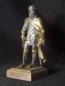 Socha - Kolekcia rytierov v zbroji (rytier v zbroji - francúzsky kráľ) - 9669691_