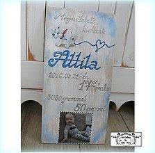 Tabuľky - Tabulka s údajmi o narodení dieťaťa :) - 9672250_