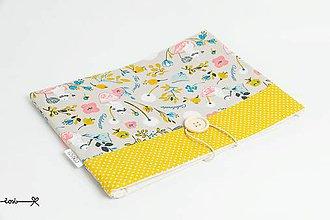 Papiernictvo - Obal na knihu - tea time (žltý) - 9671340_