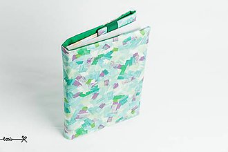 Papiernictvo - Obal na knihu otvárací - art (zelený) - 9671743_