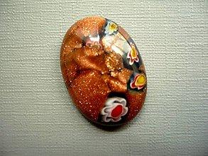 Minerály - Skleněný kabošon - millefiori, č.36f - 9671119_