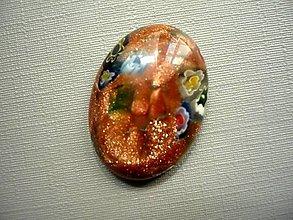 Minerály - Skleněný kabošon - millefiori, č.40f - 9672186_