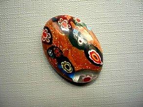 Minerály - Skleněný kabošon - millefiori, č.41f - 9672191_