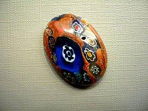 Minerály - Skleněný kabošon - millefiori, č.46f - 9672232_
