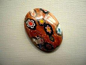 Minerály - Skleněný kabošon - millefiori, č.47f - 9672247_
